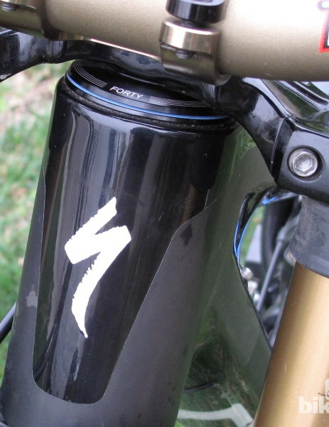 A Cane Creek 40-Series headset sits in the integrated head tube