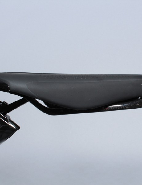 The snub-nose saddle is 24cm long