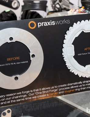 Praxis Works has made a name for itself in the chainring market with forged construction that lasts longer than machined rings