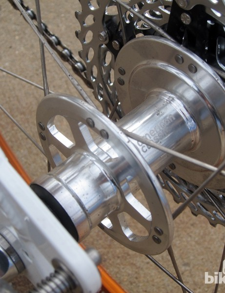 Tern had these hubs custom made by American Classic