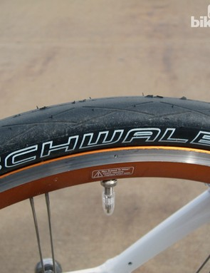 Schwalbe Durano semi-slick tires are fast and grippy