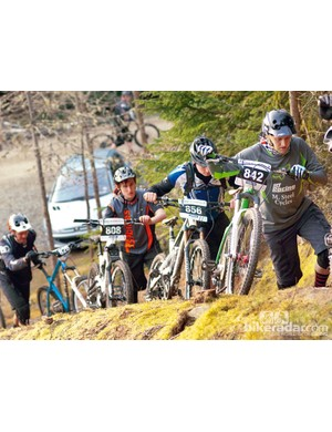 Gravity enduro attracts all sorts of riders, on all sorts of bikes