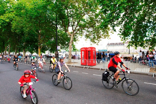 70,000 cyclists will take to the London streets on 3 August 2013, as part of the Prudential RideLondon FreeCycle