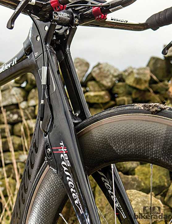 The Twin Blade gives the Wilier its name, unique aerodynamics and a precise steering and stomping feel