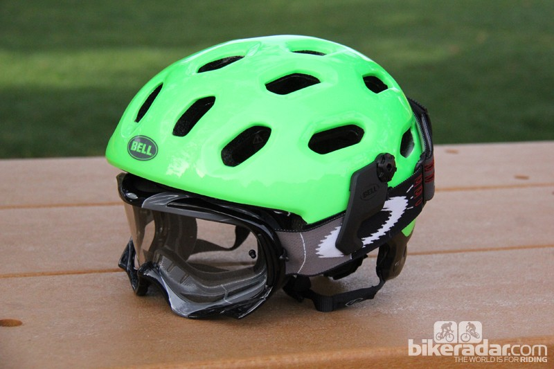 Goggle tabs can be used in place of the removable visor
