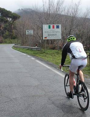 Nearing the top of Rocca di Papa