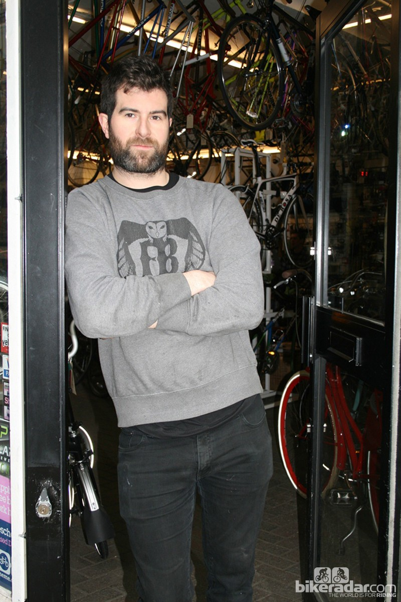 Fitzrovia Bicycles' co-owner, Tom Hipwell