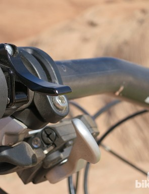 While the lever is appreciably compact, it does stick out towards the rider
