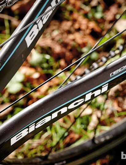 Deep chainstays are efficient – and come with Celeste green detailing
