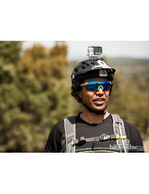 Bell athlete Matthew Slaven was kind enough to demonstrate the removeable GoPro mount