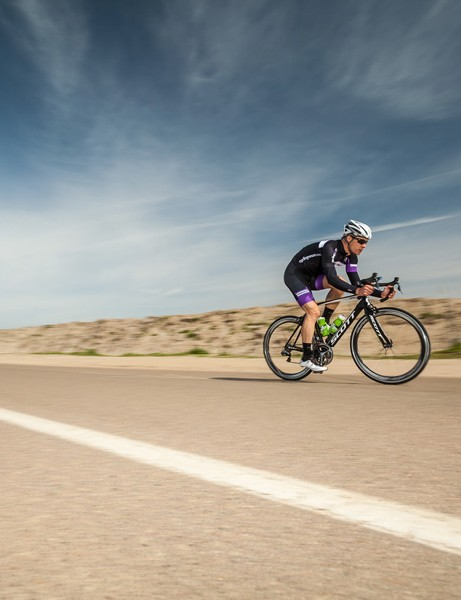 The 50mm tall rims feature a rounded top profile for stability in crosswinds