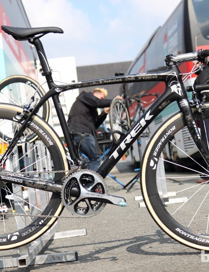 Fabian Cancellara (Radioshack-Leopard-Trek) is sticking with his tried-and-true Trek Domane 6-Series for Sunday's Ronde van Vlaanderen