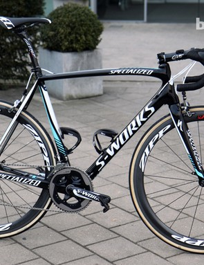 Tom Boonen (Omega Pharma-QuickStep) is hoping this Specialized S-Works Tarmac SL4 will carry him to victory in Oudenaarde.