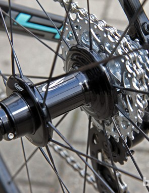 Zipp recently widened the flange spacing on its rear hubs for greater wheel stiffness.