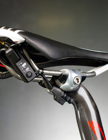 The completed system is very clean looking, with the control box neatly tucked away underneath the saddle