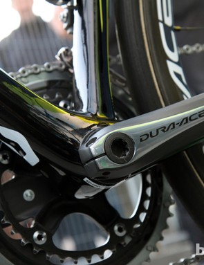 See a battery here? Neither do we. Orica-GreenEdge was running internal setups on its team bikes at Ronde van Vlaanderen