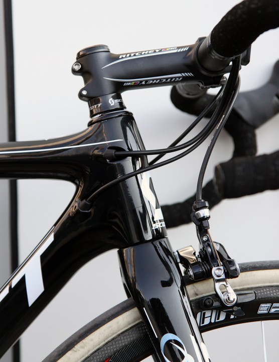 If the steerer tube is tapered, it's only mildly so