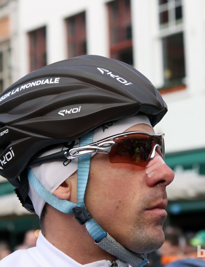 Ag2R-La Mondiale sponsor Ekoi gets into the game, too, with an unvented version of its Ekcel helmet called the - surprise - Ekcel Aero