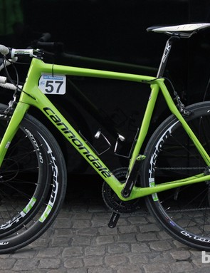 The Synapses of Peter Sagan and his Cannondale Pro Cycling teammate Maciej Bodnar are both labeled as 58cm - but one is clearly not like the other