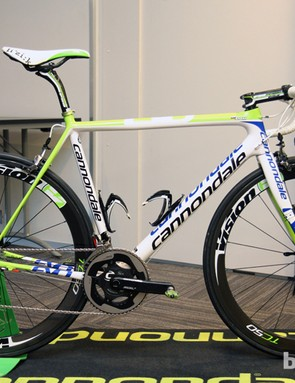 Peter Sagan's (Cannondale Pro Cycling) custom Cannondale SuperSix Evo