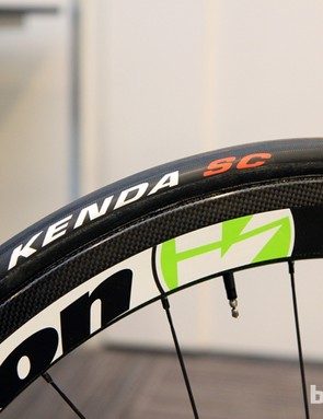 Externally located spoke nipples make life a little easier for the Cannondale Pro Cycling team mechanics