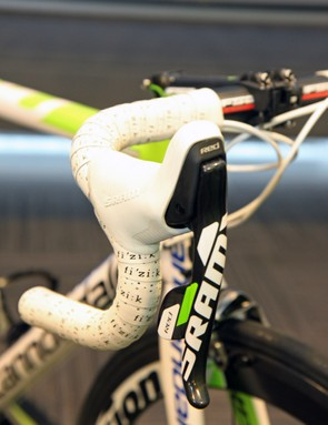 SRAM 2012 DoubleTap levers with custom green graphics for Peter Sagan (Cannondale Pro Cycling)