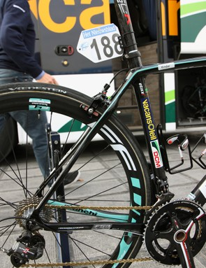 The rear end of the new Bianchi Infinito uses some radical shaping - presumably in search of more comfort on rough roads