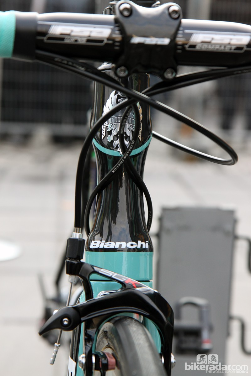 Hourglass-profile head tubes like this are becoming more commonplace