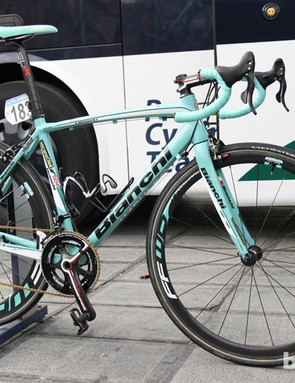 Some Vacansoleil-DCM riders opted for Bianchi's aluminum Impulso model for this year's Ronde van Vlaanderen