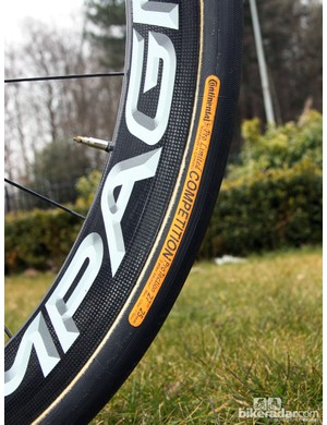 25mm-wide Continental Competition Pro Limited ProTection tubulars for Jürgen Roelandts (Lotto Belisol)