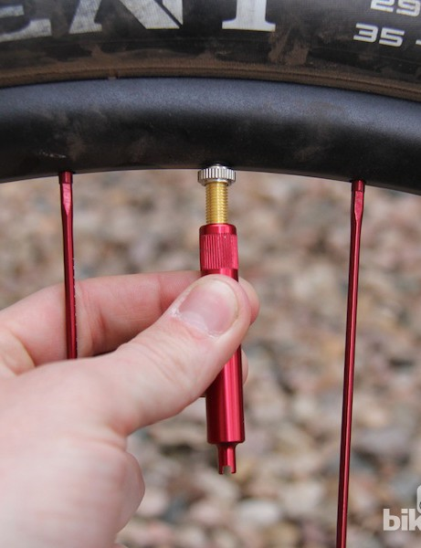 Remove the valve core during initial inflation for stubborn tubeless tires