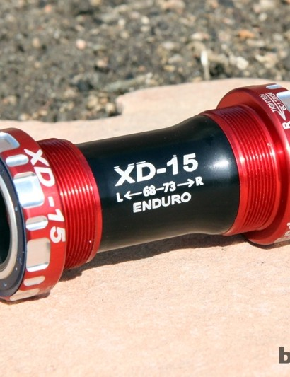 Enduro's new XD-15 is unquestionably the best bottom bracket we've used. In addition to the standard threaded version shown here, Enduro also offers the same bearing design in PF30 and BB30 fitments
