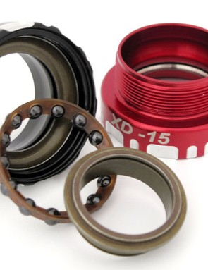 Unlike more typical radial-type cartridge bearings, Enduro's XD-15 angular contact design can withstand a significant amount of axial preload