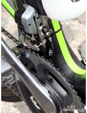 AceCo produces custom etched K-Edge chain catchers for the Argos-Shimano team - and several others