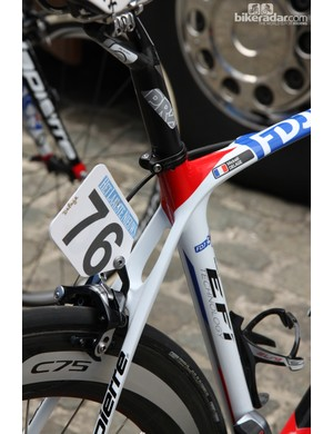 The seat cluster on FDJ's Lapierre Xelius actually seems quite pretty