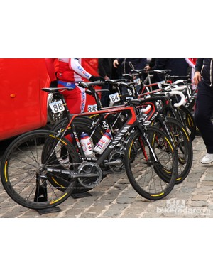 Katusha employed Canyon's new Ultimate CF SLX carbon fiber chassis at Scheldeprijs