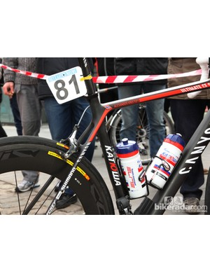Tight-fitting Elite Ciussi aluminum cages for Katusha rider Alexander Kristoff