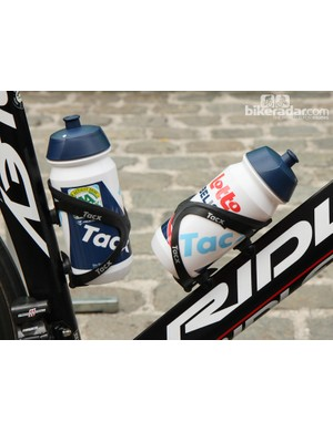 Lotto-Belisol's Kenny Dehaes set off from Antwerpen with a pair of Tacx Tao aluminum bottle cages