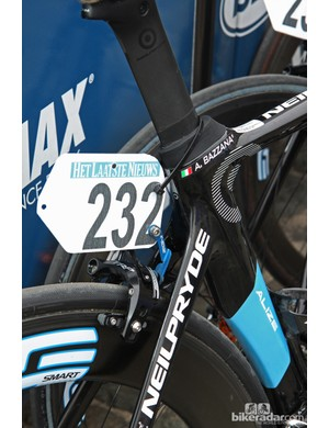 TRP R970EQ brakes and AceCo K-Edge number plate holders for UnitedHealthcare at Scheldeprijs