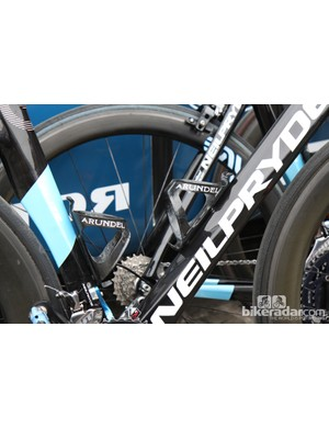 Arundel Dave-O carbon fiber cages for UnitedHealthcare at Scheldeprijs