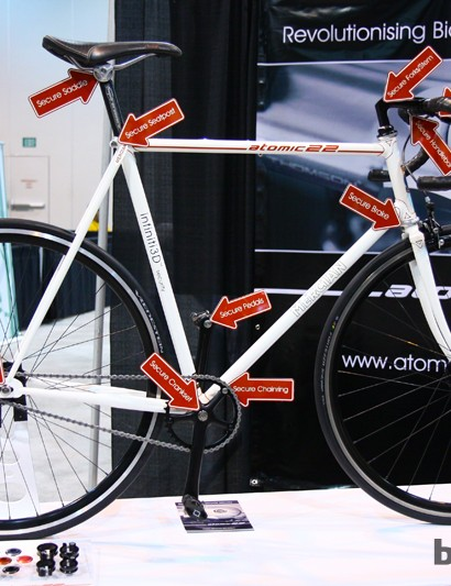 Atomic 22 has a theft-resistant solution for just about every part on your bike - and we mean everything.