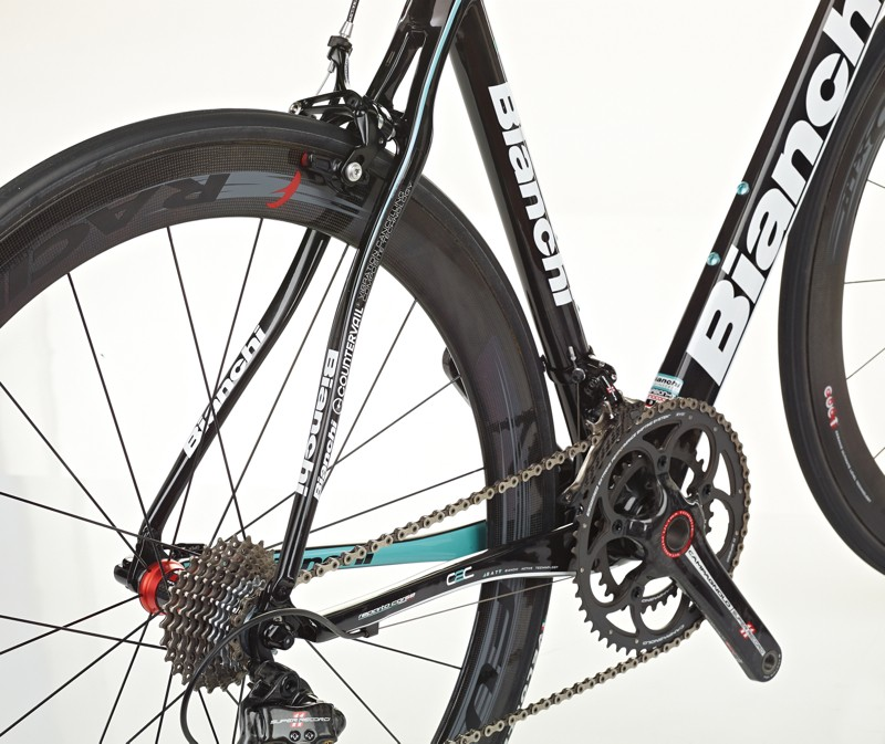 Bianchi uses layers of the CV material between layers of standard carbon