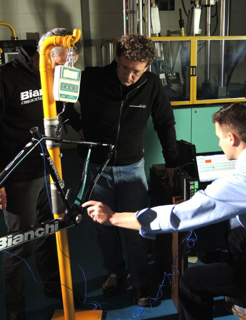 Bianchi tested the new material in the lab and on the road