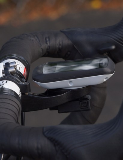 The new Garmin Edge 510, with its top flush with the stem