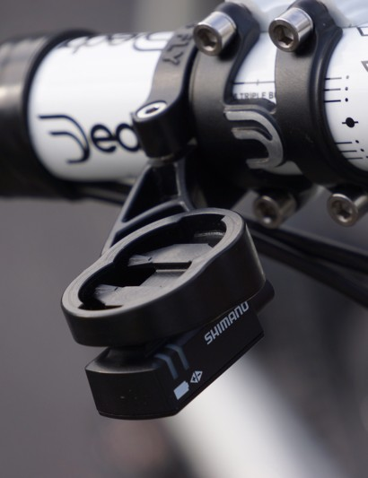 The Bar Fly 2.0 can also serve as a mount for Shimano Di2's junction port