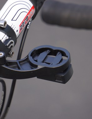 The two-slot opening lets you adjust where your Garmin sits in relation to the bar without tools