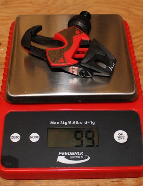 The pedal alone weighs 99g