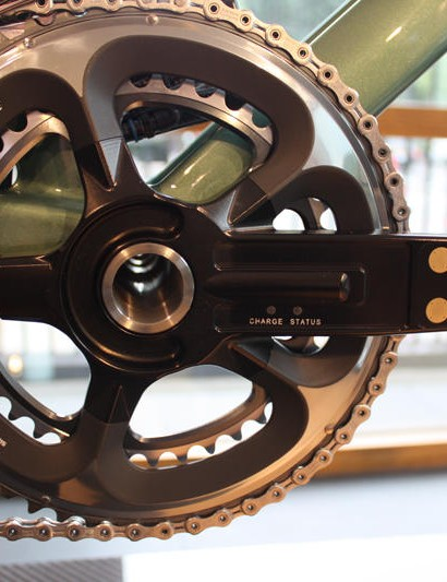 The FP04 appears to have a similar crankset to the One-77 bike, that means an integrated power meter is likely