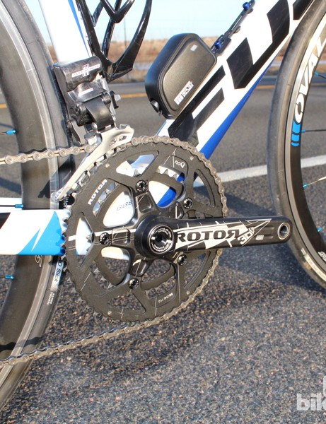 A compact Rotor crank is the only non-Athena part of the drivetrain