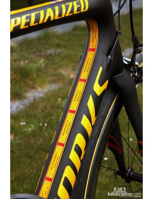 Specialized has commemorated past winners of Paris-Roubaix inside the main triangle
